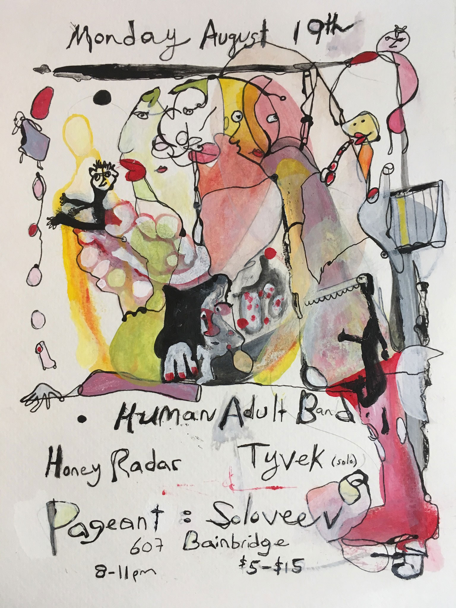Human Adult Band / Honey Radar / Tyvek (solo)